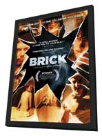 Brick - 27 x 40 Movie Poster - Style E - in Deluxe Wood Frame