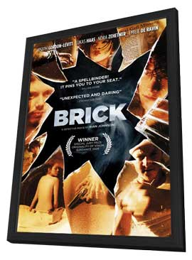 Brick - 11 x 17 Movie Poster - Style E - in Deluxe Wood Frame