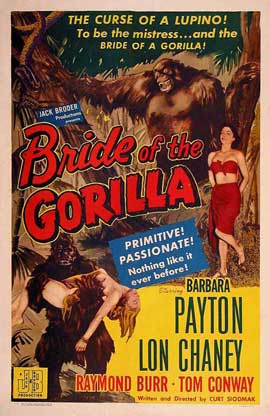 Bride of the Gorilla - 11 x 17 Movie Poster - Style B