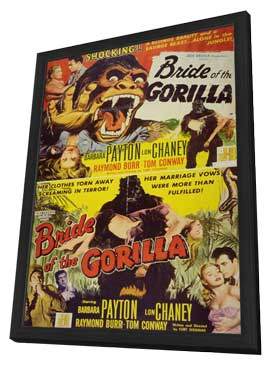 Bride of the Gorilla - 11 x 17 Movie Poster - Style A - in Deluxe Wood Frame