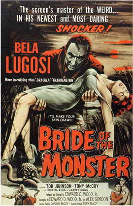 Bride of the Monster - 11 x 17 Movie Poster - Style B