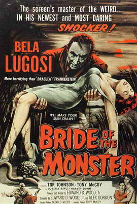 Bride of the Monster - 27 x 40 Movie Poster - Style B