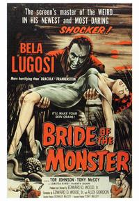 Bride of the Monster - 43 x 62 Movie Poster - Bus Shelter Style A