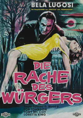 Bride of the Monster - 27 x 40 Movie Poster - German Style A