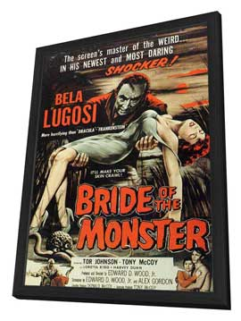 Bride of the Monster - 27 x 40 Movie Poster - Style B - in Deluxe Wood Frame