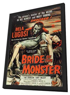 Bride of the Monster - 11 x 17 Movie Poster - Style B - in Deluxe Wood Frame