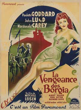Bride of Vengeance - 27 x 40 Movie Poster - French Style A