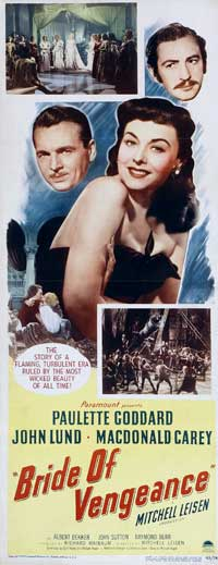 Bride of Vengeance - 14 x 36 Movie Poster - Insert Style A