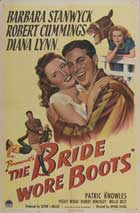 Bride Wore Boots - 11 x 17 Movie Poster - Style A