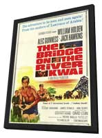 The Bridge on the River Kwai - 11 x 17 Movie Poster - Style C - in Deluxe Wood Frame