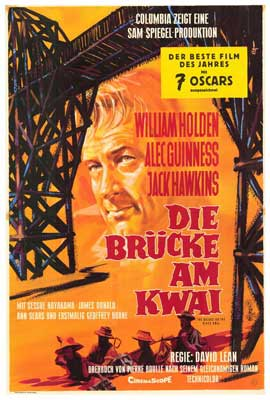 The Bridge on the River Kwai - 27 x 40 Movie Poster - German Style A