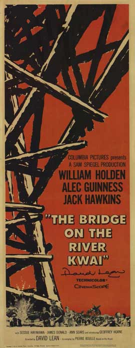 The Bridge on the River Kwai - 14 x 36 Movie Poster - Insert Style A