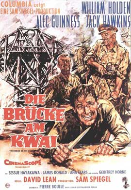 The Bridge on the River Kwai - 11 x 17 Movie Poster - German Style F