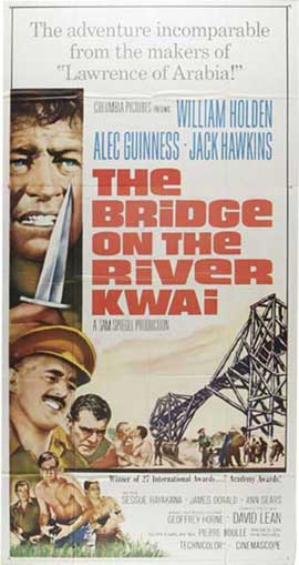 The Bridge on the River Kwai - 11 x 17 Movie Poster - Style F
