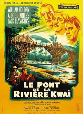 The Bridge on the River Kwai - 27 x 40 Movie Poster - French Style A