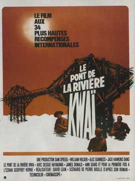 Bridge on the River Kwai - 11 x 17 Movie Poster - French Style A