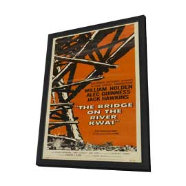 The Bridge on the River Kwai - 14 x 36 Movie Poster - Insert Style A - in Deluxe Wood Frame