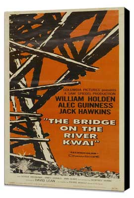 The Bridge on the River Kwai - 14 x 36 Movie Poster - Insert Style A - Museum Wrapped Canvas