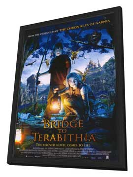Bridge to Terabithia - 11 x 17 Movie Poster - Style B - in Deluxe Wood Frame