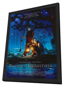 Bridge to Terabithia - 27 x 40 Movie Poster - Style A - in Deluxe Wood Frame