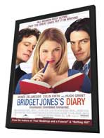 Bridget Jones's Diary - 11 x 17 Movie Poster - Style B - in Deluxe Wood Frame