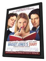 Bridget Jones's Diary - 27 x 40 Movie Poster - Style B - in Deluxe Wood Frame