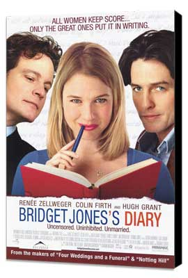 Bridget Jones's Diary - 11 x 17 Movie Poster - Style B - Museum Wrapped Canvas
