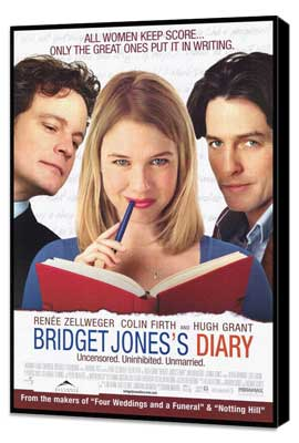 Bridget Jones's Diary - 27 x 40 Movie Poster - Style B - Museum Wrapped Canvas
