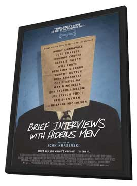 Brief Interviews with Hideous Men - 11 x 17 Movie Poster - Style A - in Deluxe Wood Frame