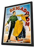 Brigadoon - 27 x 40 Movie Poster - Spanish Style A - in Deluxe Wood Frame