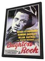 Brighton Rock - 27 x 40 Movie Poster - Style A - in Deluxe Wood Frame