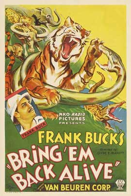 Bring 'Em Back Alive - 11 x 17 Movie Poster - Style B