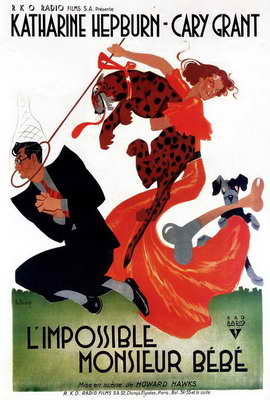 Bringing Up Baby - 27 x 40 Movie Poster - French Style A