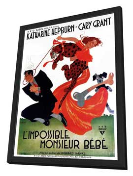 Bringing Up Baby - 11 x 17 Movie Poster - French Style A - in Deluxe Wood Frame