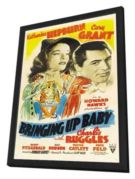 Bringing Up Baby - 27 x 40 Movie Poster - Style C - in Deluxe Wood Frame