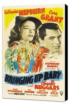 Bringing Up Baby - 11 x 17 Movie Poster - Style D - Museum Wrapped Canvas
