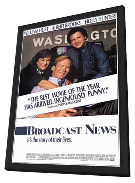 Broadcast News - 27 x 40 Movie Poster - Style A - in Deluxe Wood Frame