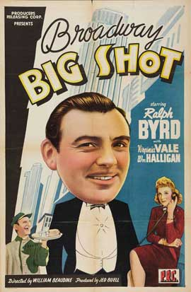 Broadway Big Shot - 27 x 40 Movie Poster - Style A