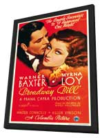 Broadway BIll - 11 x 17 Movie Poster - Style B - in Deluxe Wood Frame