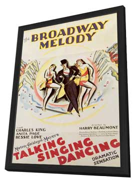 Broadway Melody - 11 x 17 Movie Poster - Style A - in Deluxe Wood Frame
