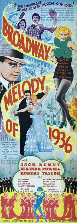 Broadway Melody of 1936 - 14 x 36 Movie Poster - Insert Style A
