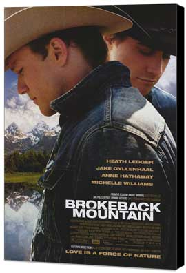 Brokeback Mountain - 27 x 40 Movie Poster - Style A - Museum Wrapped Canvas