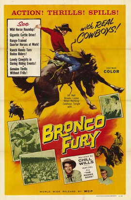 Bronco Fury - 11 x 17 Movie Poster - Style A