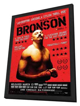 Bronson - 11 x 17 Movie Poster - UK Style A - in Deluxe Wood Frame