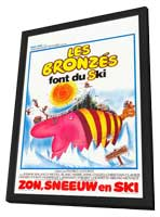 Bronz�s font du ski, Les - 11 x 17 Movie Poster - Belgian Style A - in Deluxe Wood Frame
