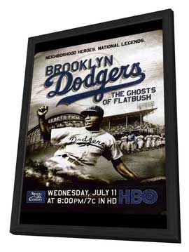 Brooklyn Dodgers: The Ghosts of Flatbush - 11 x 17 Movie Poster - Style A - in Deluxe Wood Frame
