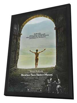 Brother Sun, Sister Moon - 11 x 17 Movie Poster - UK Style A - in Deluxe Wood Frame