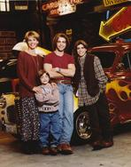Brotherly Love - Brotherly Love Cast Posed with Vehicles