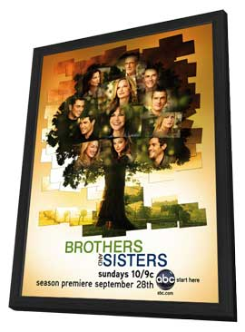 Brothers & Sisters (TV) - 11 x 17 TV Poster - Style D - in Deluxe Wood Frame
