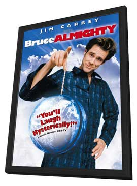 Bruce Almighty - 11 x 17 Movie Poster - Style B - in Deluxe Wood Frame